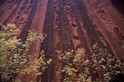 """Huecos Rancheros"", a 45m long 12c in Kolob Canyon, truly amazing"