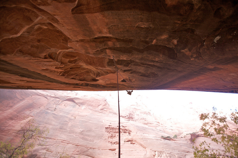 """The 45m long sport route """"Namaste"""" 5.12- in Kolob Canyon was an unbelievable expierience"""