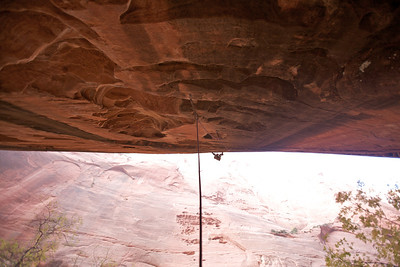 "The 45m long sport route ""Namaste"" 5.12- in Kolob Canyon was an unbelievable expierience"