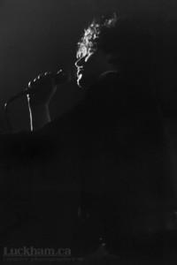 U2  Vancouver on March 24th, 1981. U2's Bono at the Commodore Ballroom.