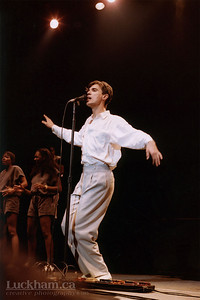 David Byrne of Talking Heads at the Pacific Coliseum, Vancouver on December 3, 1983.