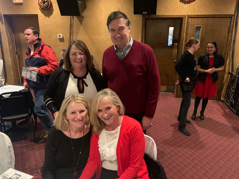 Front row, Lisa Wholey of Tyngsboro and Shelagh Galvin of Hudson; back row, Kathy Plath of Lowell and Michael Collins of Belmont