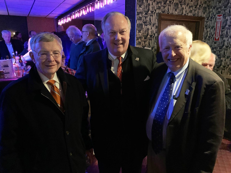 From left, George Duncan, Jim O'Donnell and then-Mayor William Samaras, all of Lowell