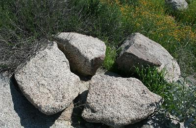 Split boulder, Lakeview Mountains, 8 Mar 2008