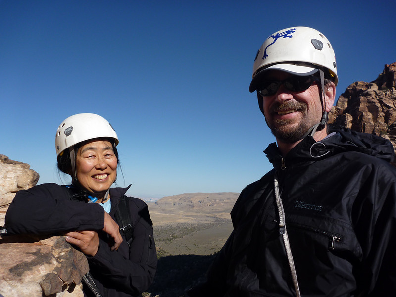 Liz took this pic of Carol and Rick at the third belay station on the way down