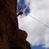 red rock, blue sky, clouds, Diana