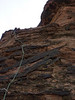 on lead, pitch 2, The Barbarian, Snow Canyon SP