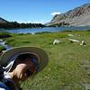 Carol photobombs my Green Lake picture