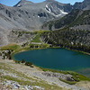 Green Lake and the talus field we climbed last year