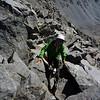 Carol climbs to the summit