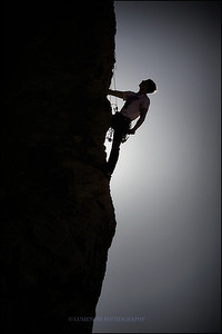 Christopher Forte Topping off on Cut Loose 5.10d at Stratocaster Wall in Red Rock Canyon.