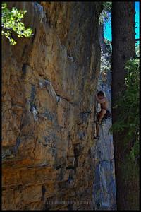 Climbing Yellow Pine routes at Mt. Charleston