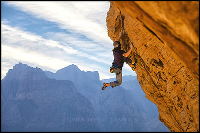 Day climbing at the Red Rock Trophy wall.