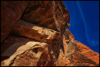 Exploring Big Red Book route in Red Rock Canyon.