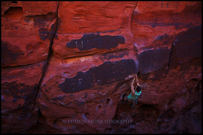 Nick Shultz in Black Corridor Climbs Nightmare on Crude Street 5.10d