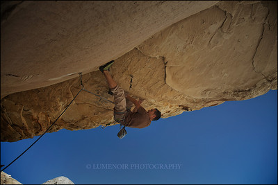 Paul Snow Climbing Meat Locker 5.13b at Red Rock Canyon, Nevada.