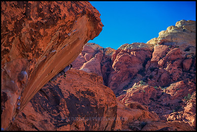Going up Alternative Wall In Red Rock.