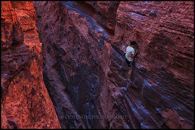 Jeff Seo on Vagabonds route 5.10a in Black Corridor.