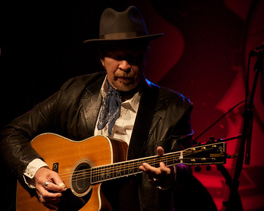 "In his own words, Dave Alvin plays ""both types of folk music: quiet and loud."" Tonight it was mostly loud as he opened with ""Harlan County Line,"" his song that was featured in the FX series Justified. Yep Roc 15th Anniversary show"