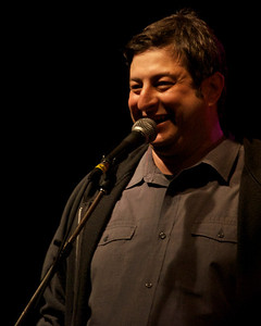 Eugene Mirman came up for a funny few minutes. Saw him in the crowd later digging the show. The members of Southern Culture on the Skids, who live nearby and had played the opening party the night before, were also in attendance but didn't play unfortunately. Not that there was really time for it, but they're always entertaining. It was fun watching Rick (singer/guitarist) grooving to Los Straitjackets' guitar heroics when they came on.