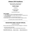 Allstar Auditions pricing 2016