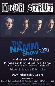 MS NAMM 2020 poster