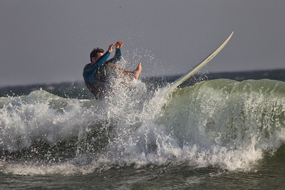 Surfing in Earl Rockaway  Beach  NY Sept 3-4