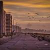 Dawn On Boardwalk