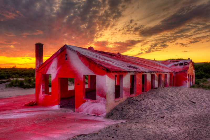 The Red Building, Ft Tilden Rockaway