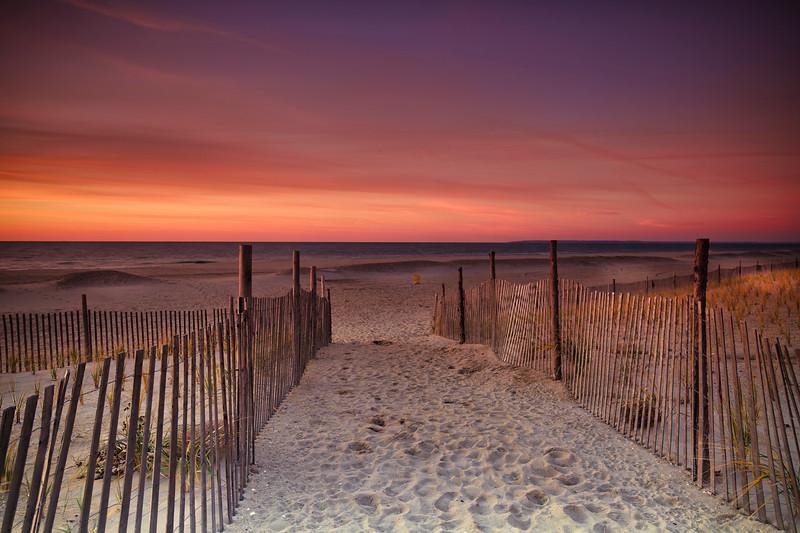 Sunrise At Fence
