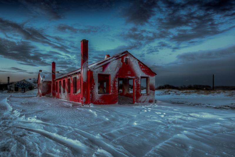 Aquatic Building In Snow