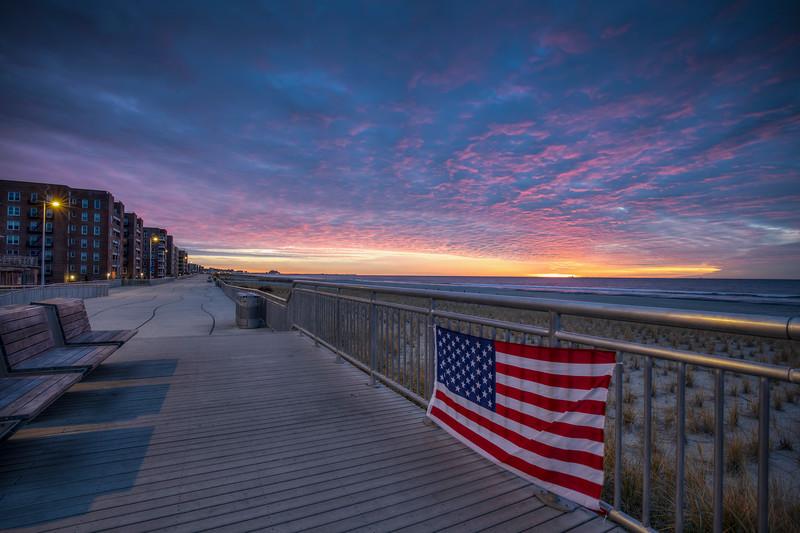 American Flag Sunrise, Rockaway Beach