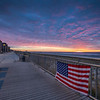 American Flag Sunrise, Rockaway Beach