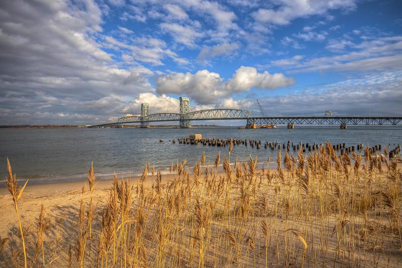 Marine Parkway Bridge With Weeds