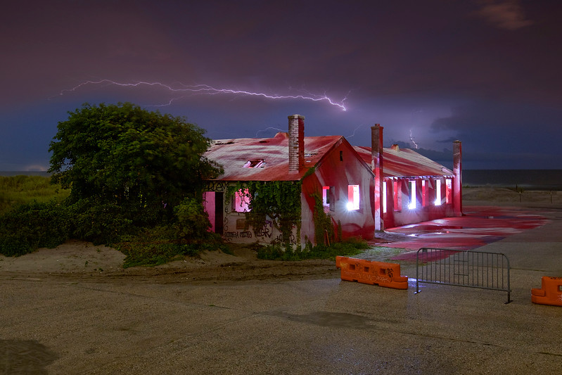 Lightning Over Aquatic Building