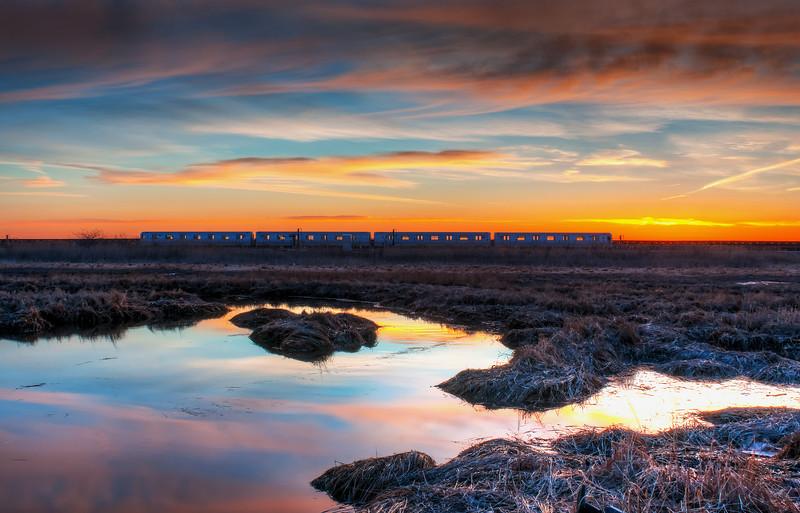 Sunrise Over Rockaway Shuttle
