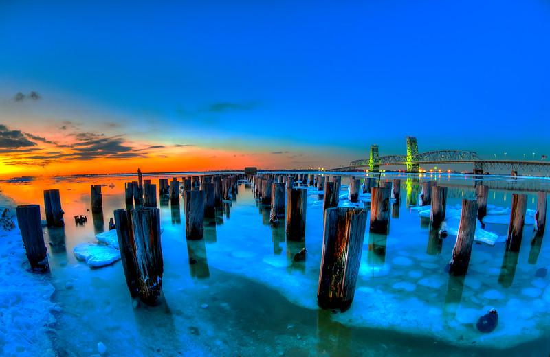 Rockaway Icebergs At Night