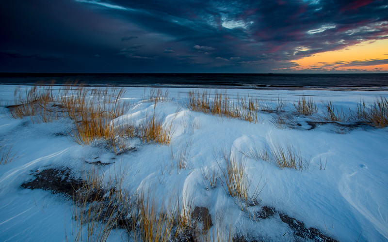 Sunset After Snowstorm