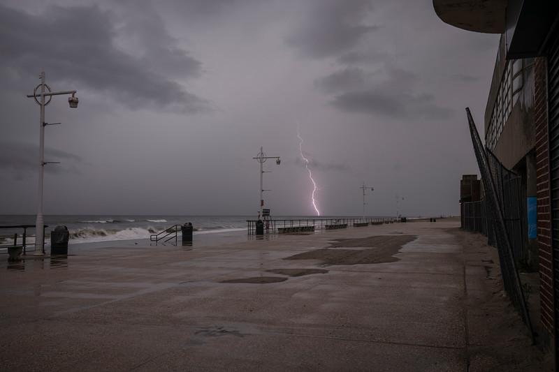 Lightning At Riis Park