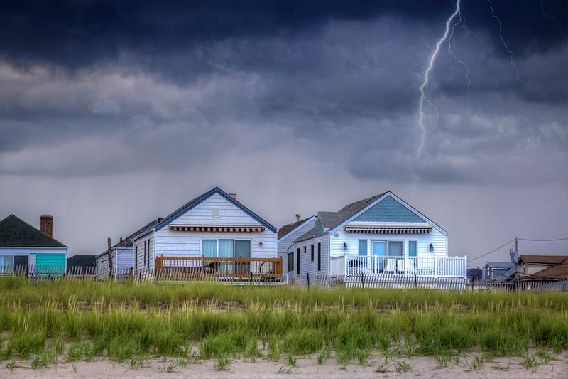 Lightning Over Two Houses
