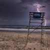 Lightning At Lifeguard Chair