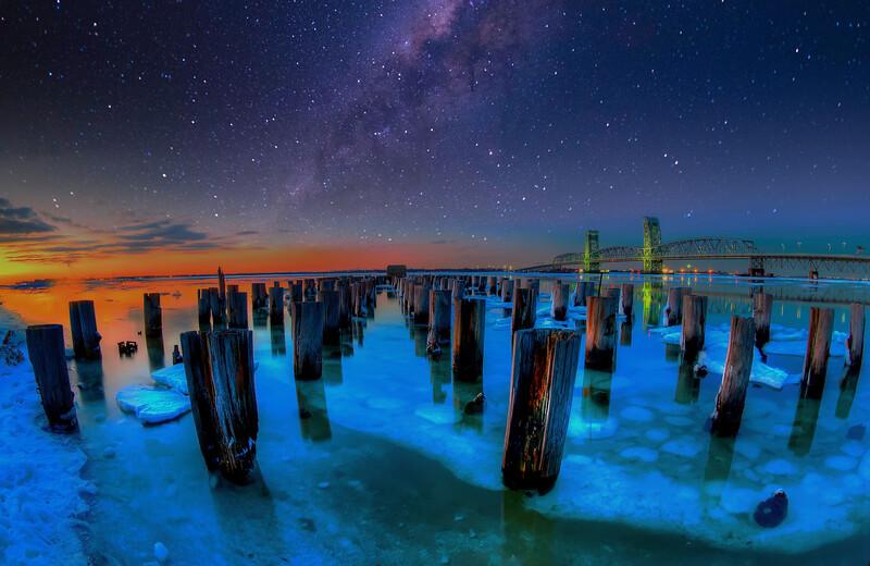 Milky Way Over The Marine Parkway Bridge   ( Composite )