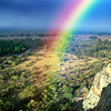 Rainbow over Mt Arapiles
