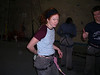 Megan ready to do the second heat climb - belayed by the trusty Rich