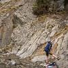 <b>3 June 2012</b> Heart Creek - belaying in the warm Canadian Rockies summer