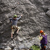 <b>3 June 2012</b> Heart Creek - Tomoe belaying Darren