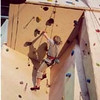 Victorian Climbing Championships @ Flemington, May 2003.  Jackie on Heat One.
