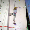 Victorian Climbing Championships @ Flemington, May 2003. Jackie on final climb.