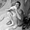 1981. Michael Law, Mike Law, Claw and Mikl Law. One and the same. Lunch beneath the Ogive at Bundaleer, Grampians National Park, Victoria. Arguably the best Australian climber of his generation.