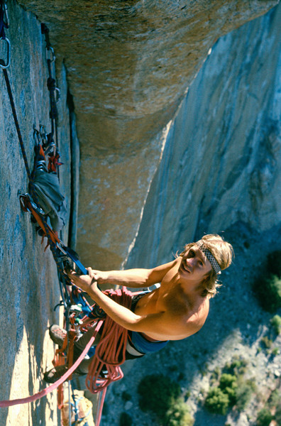 1979. Glenn Tempest on Mescalito, El Capitan, Yosemite Valley, California USA. Photo by Matt Taylor / Tempest collection. We spent 8 nights (10 days) on the wall for what was a very early repeat of one of El Caps then harder aid routes. An amazing trip.